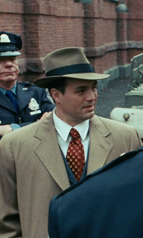 Mark Ruffalo with Brioni Square Print Silk Tie in Shutter Island