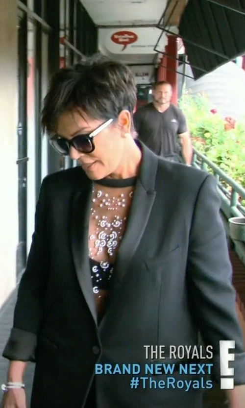 Kris Jenner with The Kooples Leather-Tm Single-Breasted Jacket in Keeping Up With The Kardashians