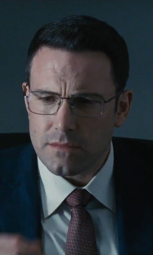 Ben Affleck with David Yurman Rectangular Full-Rim Eyeglasses in The Accountant