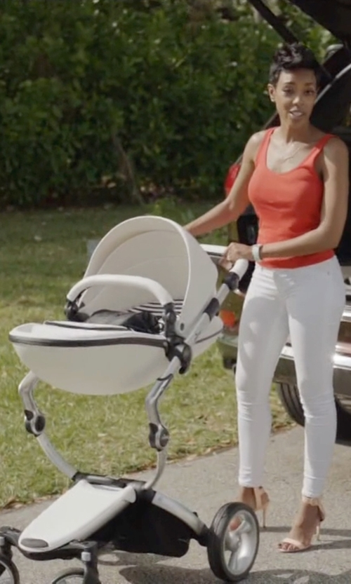 Jazmyn Simon with Mima Xari Flair Stroller in Ballers