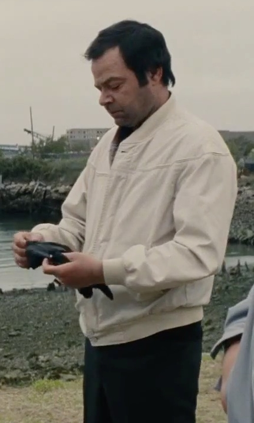 Rory Cochrane with Moschino Mare Zip Jacket in Black Mass