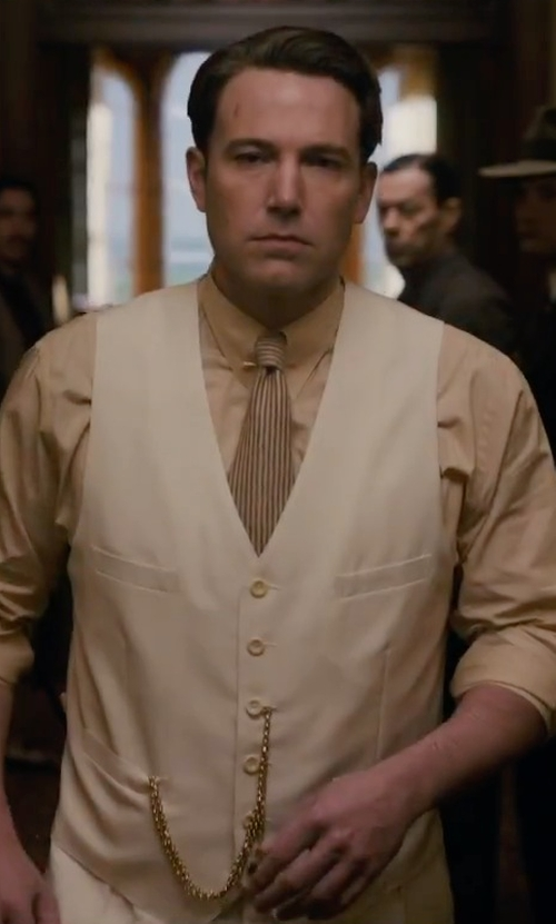 Ben Affleck with Perry Ellis Octavio Slim Vest in Live By Night