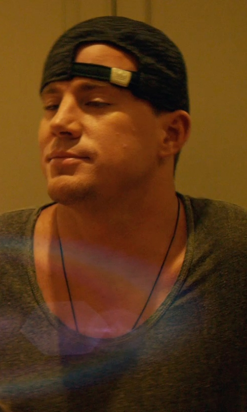 Channing Tatum with Asos Leather Necklace in Magic Mike XXL