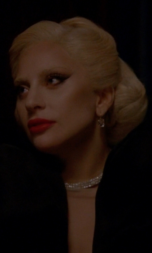 Lady Gaga with Eddie Borgo Pavé Crystal Safety Chain Choker Necklace in American Horror Story
