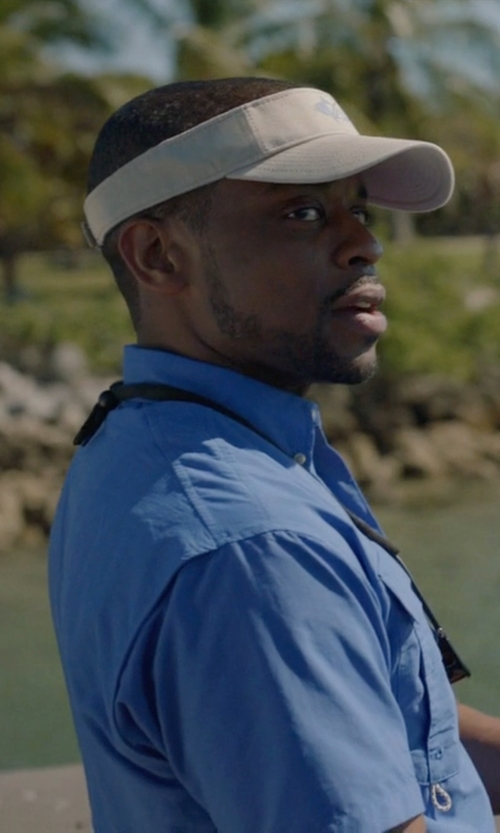 Dulé Hill with DS Sport Sun Visor in Ballers