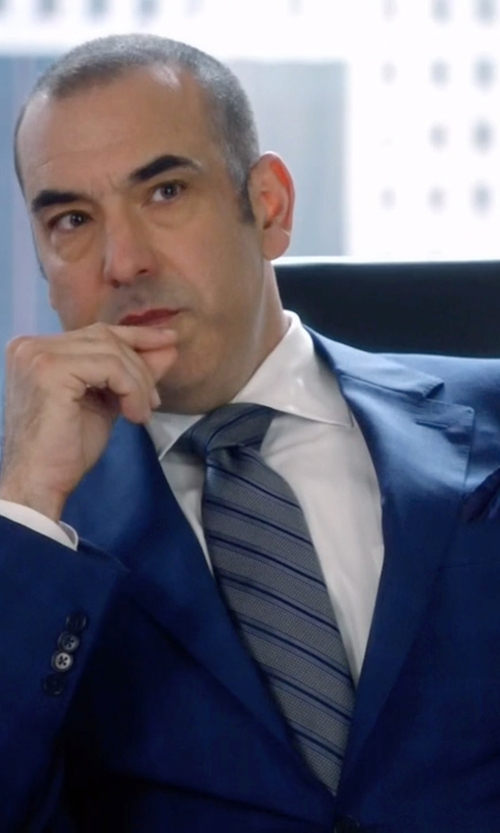 Rick Hoffman with Z Zegna Two-Button Windowpane Suit in Suits