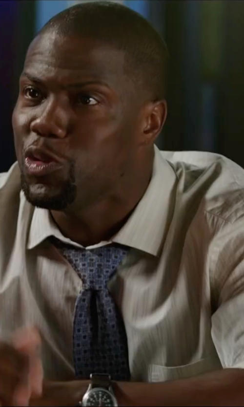 Kevin Hart with CCCP Swiss Quartz Brown Watch in Central Intelligence