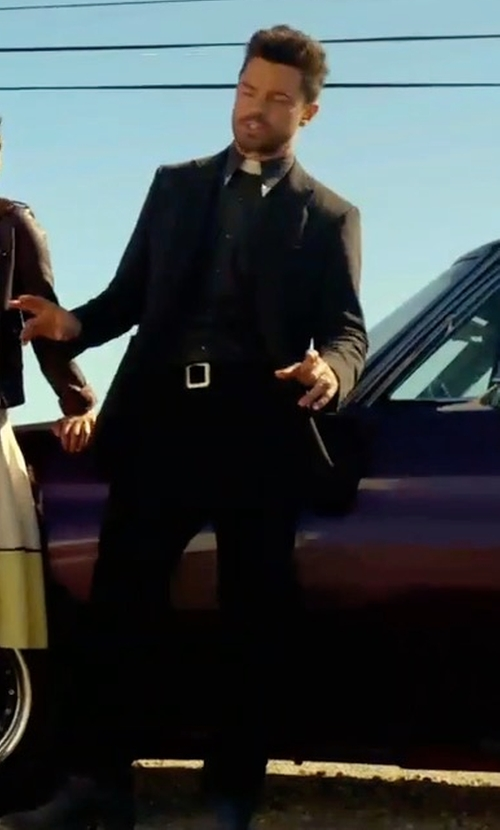 Dominic Cooper with DSquared2 Peak Lapel Blazer in Preacher