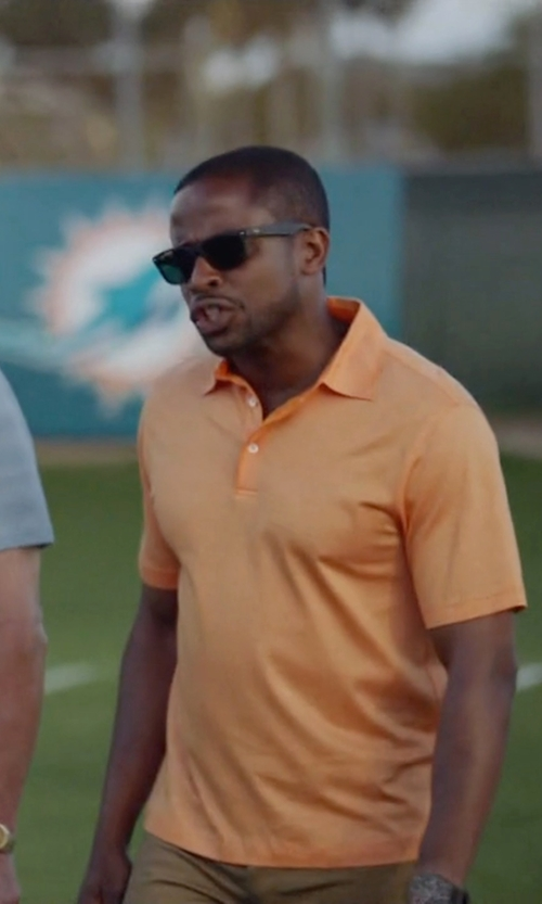Dulé Hill with Ray-Ban Square Folding Classic Black Sunglasses in Ballers