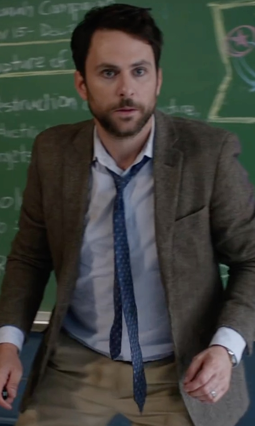 Charlie Day with Robert Talbott Lightweight Dyed Sports Blazer in Fist Fight