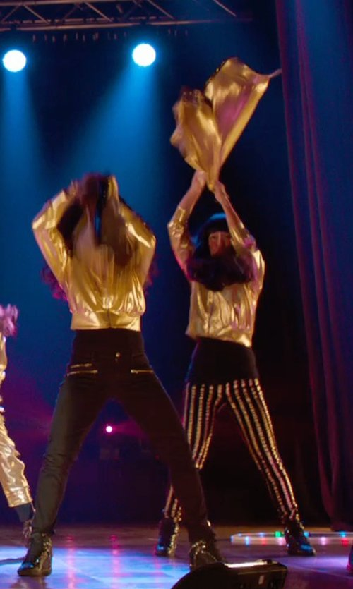 Hana Mae Lee with Eastbay Tearaway Pants in Pitch Perfect 2