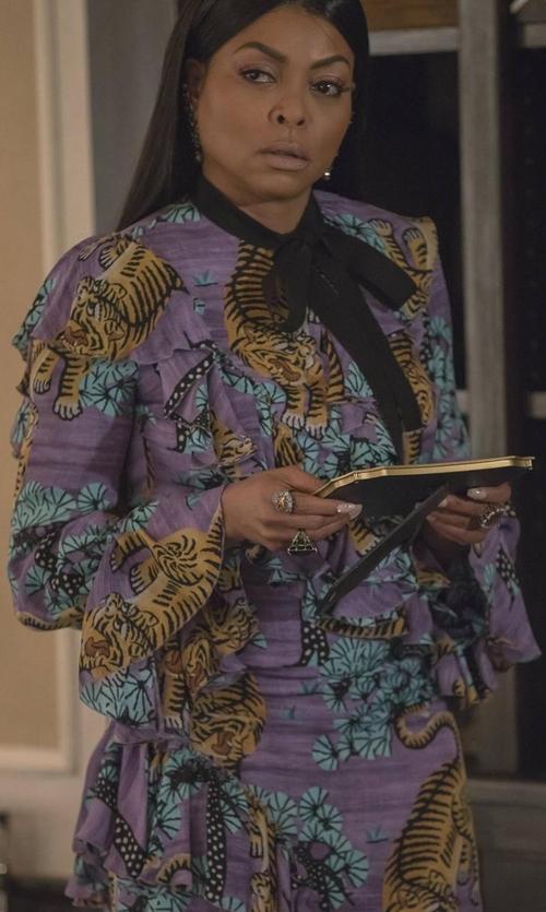 Taraji P. Henson with Gucci Bengal Georgette Dress in Empire