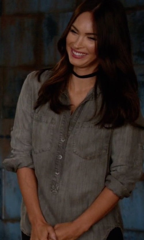 Megan Fox with Bella Dahl Pullover Top in New Girl