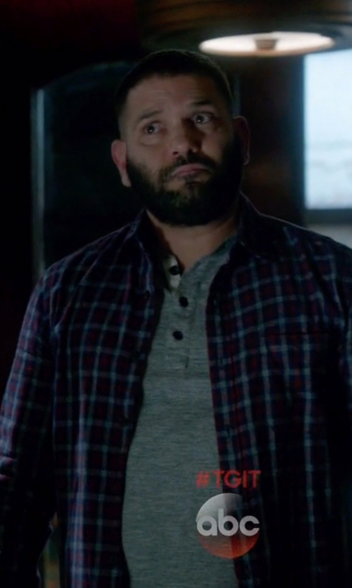 Guillermo Díaz with Emporio Armani Classic Henley Top in Scandal
