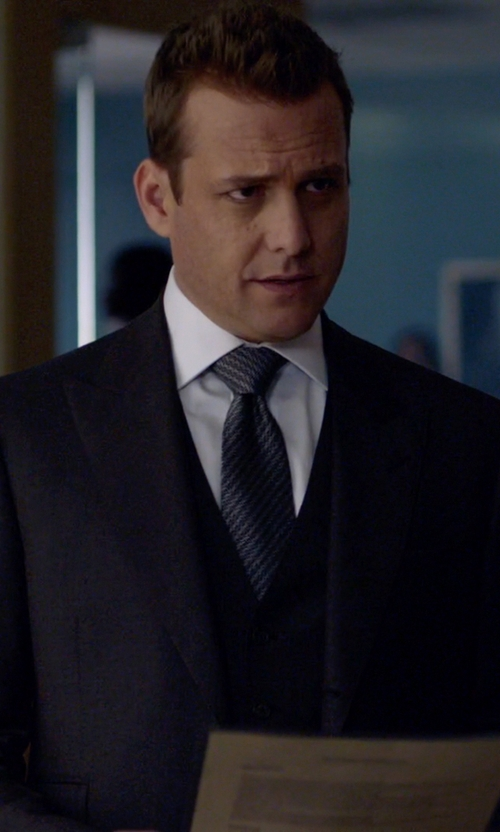 Gabriel Macht with Ralph Lauren Black Label Solid Dress Shirt in Suits