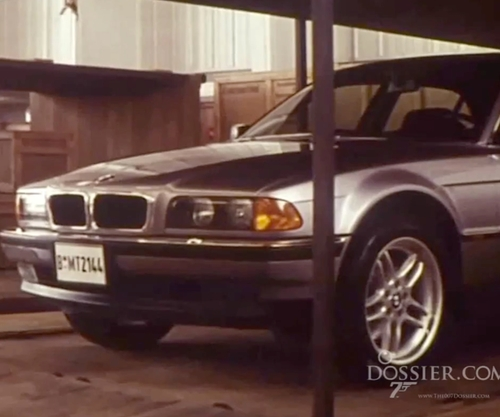 Pierce Brosnan with BMW 1997 750iL Sedan in Tomorrow Never Dies