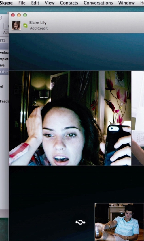 Shelley Hennig with Apple iPhone 5s in Unfriended