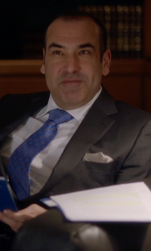 Rick Hoffman with Z Zegna Notched Collar Two-Piece Suit in Suits