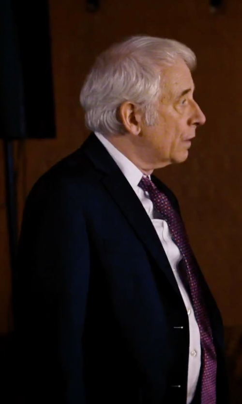 Austin Pendleton with Marc New York Woven Two Button Notch Lapel Wool Suit in She's Funny That Way