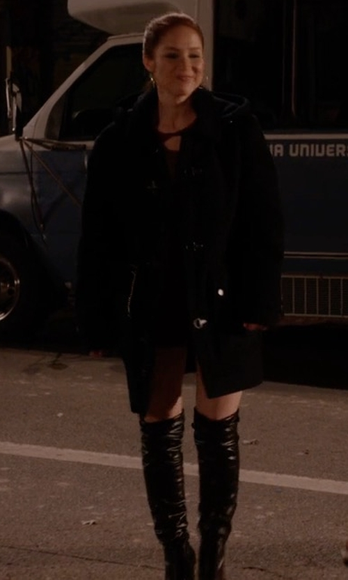 Ellie Kemper with Michael Kors Coraline Leather Over-The-Knee Boots in Unbreakable Kimmy Schmidt