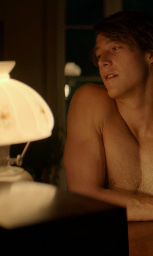 Luke Bracey with Adesso Lexington Table Lamp in The Best of Me