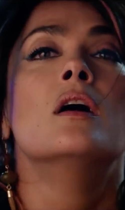 Salma Hayek with Vanessa Mooney Paulene Earrings in The Hitman's Bodyguard