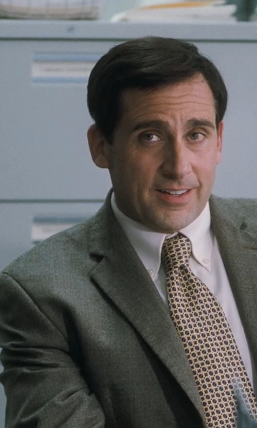 Steve Carell with Versace Trend Cotton Dress Shirt in Crazy, Stupid, Love.