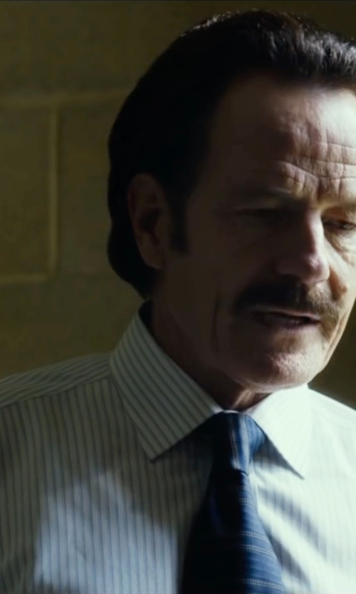 Bryan Cranston with Todd Snyder White Label Crosby Dress Shirt in The Infiltrator