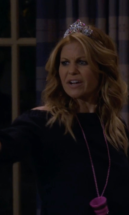 Candace Cameron Bure with Hayden Silk Blend Hi-Low Hem Blouse in Fuller House