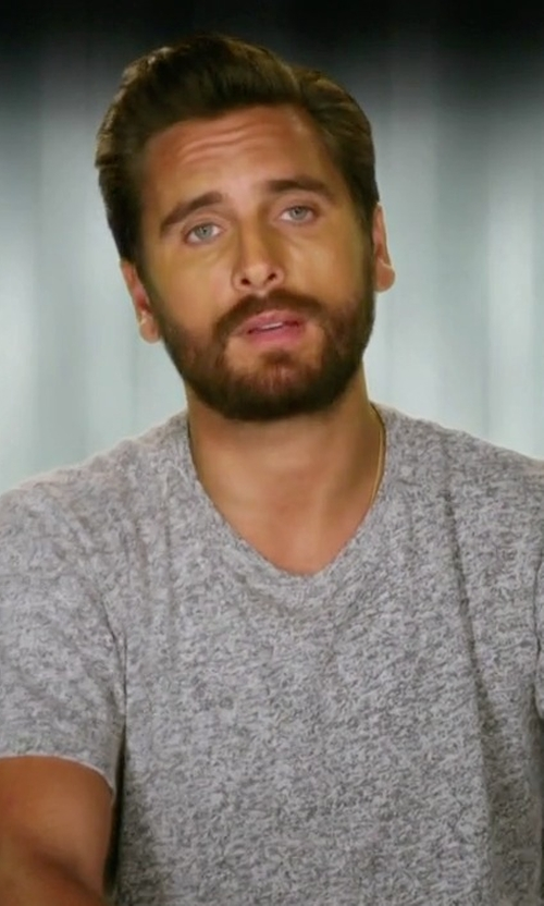Scott Disick with John Elliott Classic Crew Neck Tee in Rob & Chyna