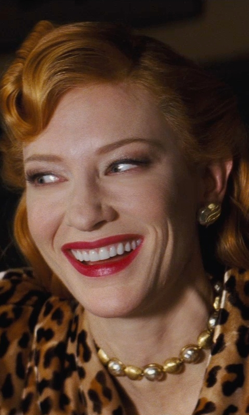 Cate Blanchett with Sandy Powell (Costume Designer) Custom Made Gold Tone Necklace (Lady Tremaine) in Cinderella