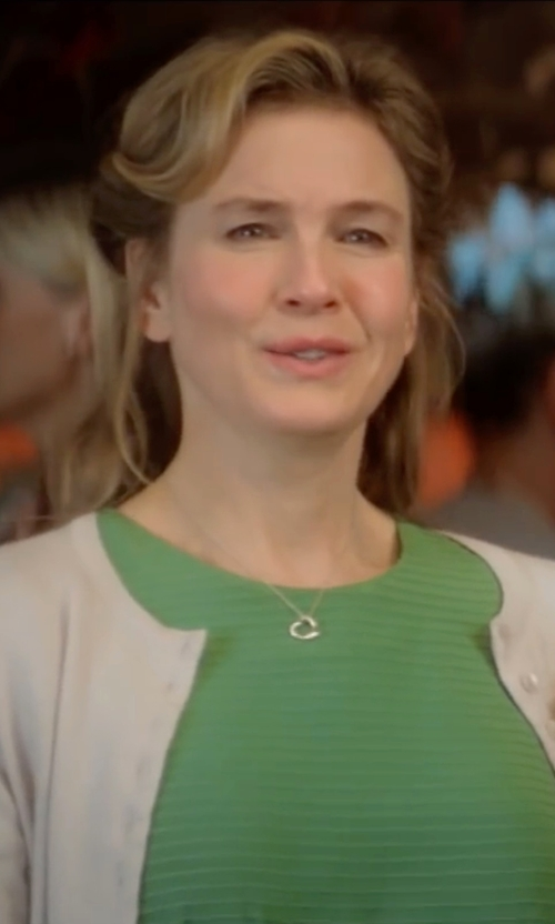 Renée Zellweger with J. Mendel Short-Sleeve Popover Dress in Bridget Jones's Baby