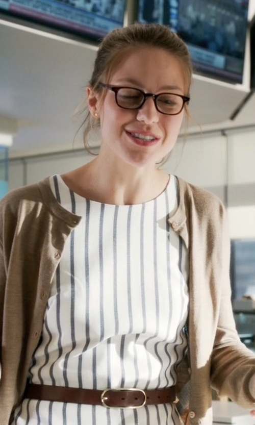 Melissa Benoist with ModCloth Dockside Dance Party Dress in Supergirl