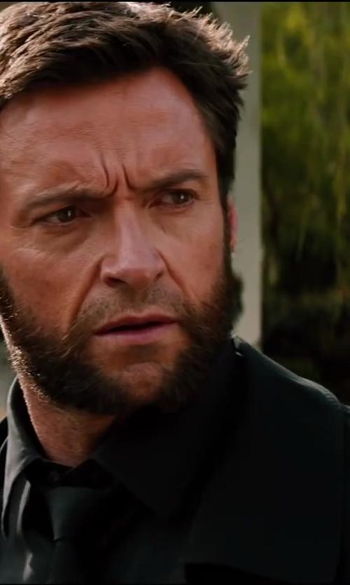 Hugh Jackman with John Varvatos Star U.S.A. Filmore 2-Button Notch Suit in The Wolverine