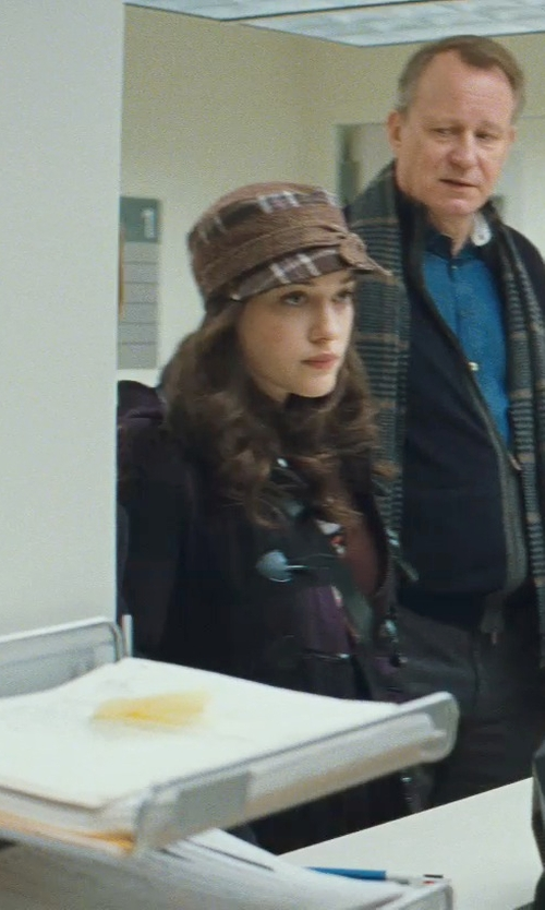 Kat Dennings with Chericom Store-Hat Plaid Outwear Hat in Thor