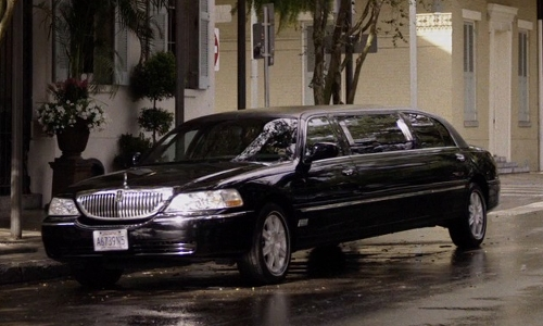 Matthew Goode with Lincoln Royale Stretch Limo Sedan in Self/Less