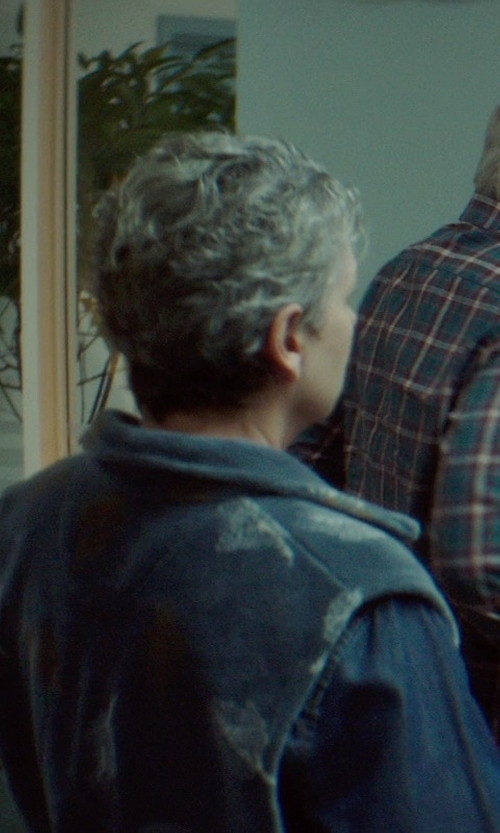 Gabrielle Rose with R13 Oversized Denim Vest in If I Stay