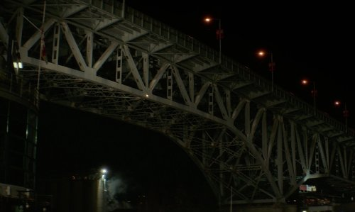Unknown Actor with Hawthorne Bridge Portland, Oregon in If I Stay