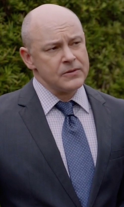Rob Corddry with Theory Check Sport Shirt in Ballers
