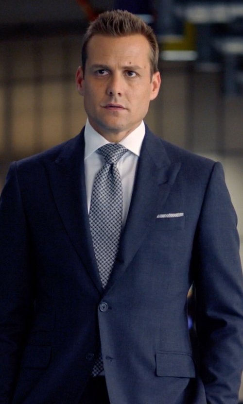 Gabriel Macht with Armani Collezioni Two Piece Suit in Suits