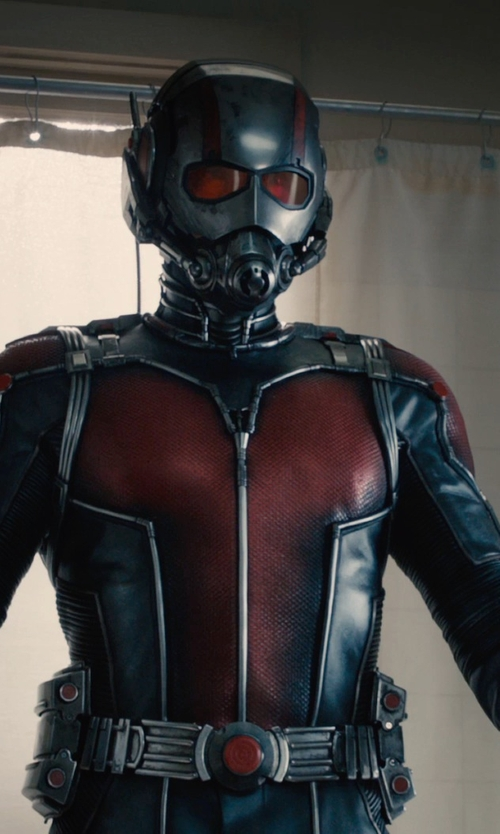 Paul Rudd with Sammy Sheldon (Costume Designer) Custom Made Scott Lang / Ant-Man Costume in Ant-Man