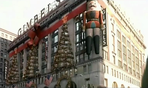 Will Ferrell with Textile Building (Depicted as Gimbels Department Store) New York City, New York in Elf