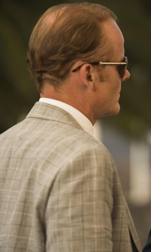 Alistair Petrie with Peter Millar 'Flynn' Classic Fit Windowpane Wool Sport Coat in The Night Manager