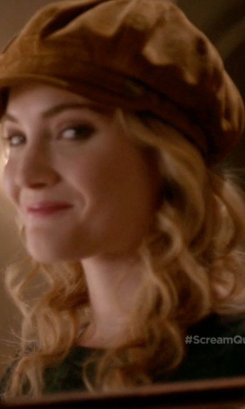 Skyler Samuels with Goorin Brothers Ruthy Suede Cabbie Hat in Scream Queens
