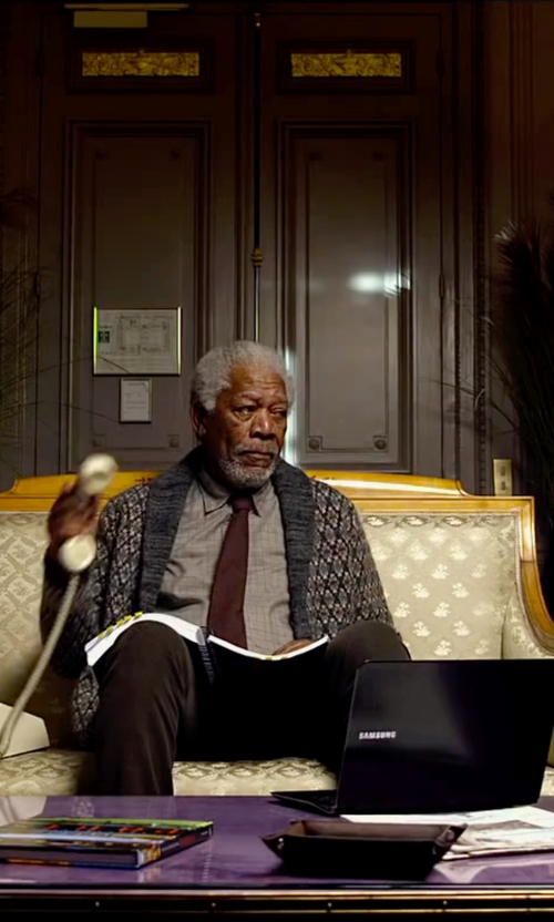 Morgan Freeman with Samsung ATIV Book 4 in Lucy