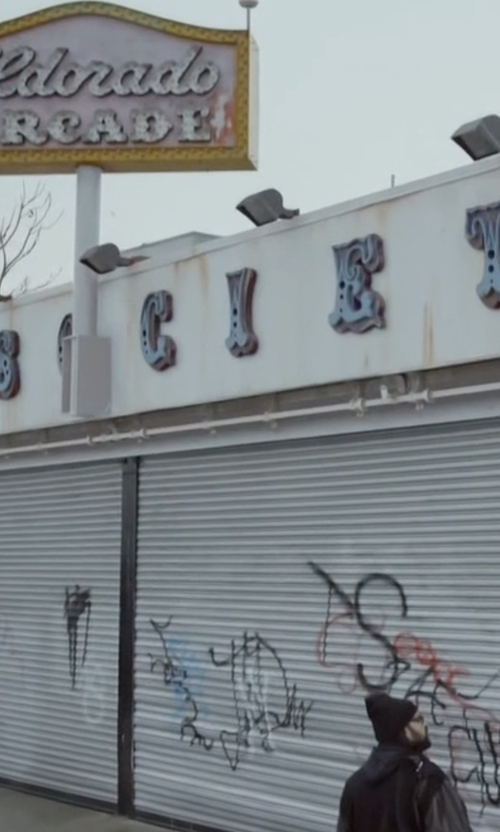Unknown Actor with Fun Society Amusement Arcade(Depicted as FSociety Bunker) Brooklyn, New York in Mr. Robot