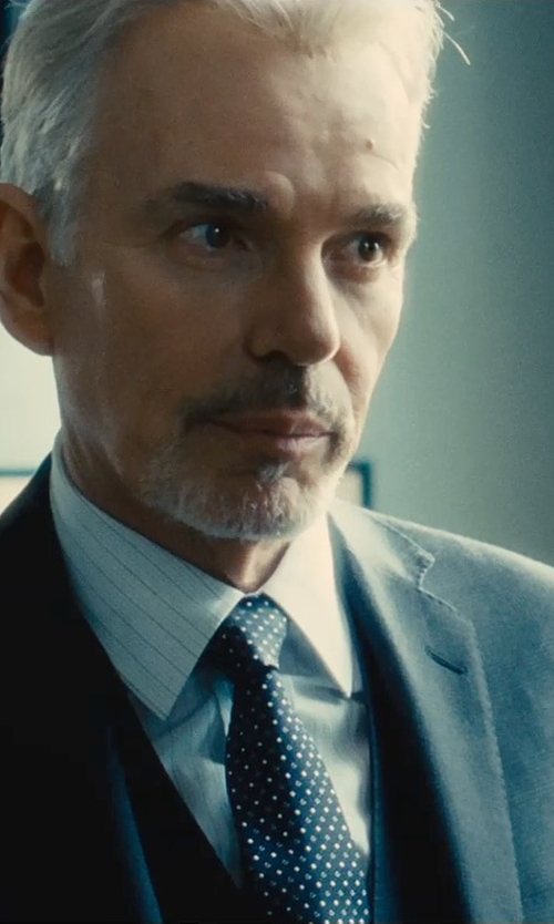 Billy Bob Thornton with Ralph Lauren Black Label Peau de Soie Dotted Tie in The Judge