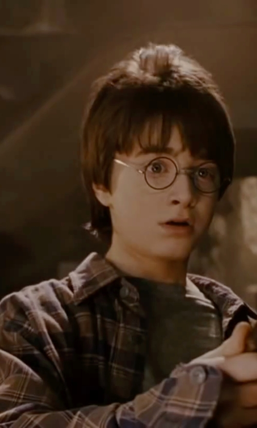 Daniel Radcliffe with O'Neill 'Palisade' Long Sleeve Plaid Shirt in Harry Potter and the Deathly Hallows: Part 2