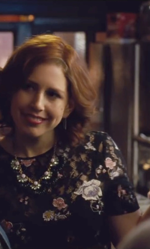 Vanessa Bayer with River Island Black Statement Embellished Necklace in Trainwreck
