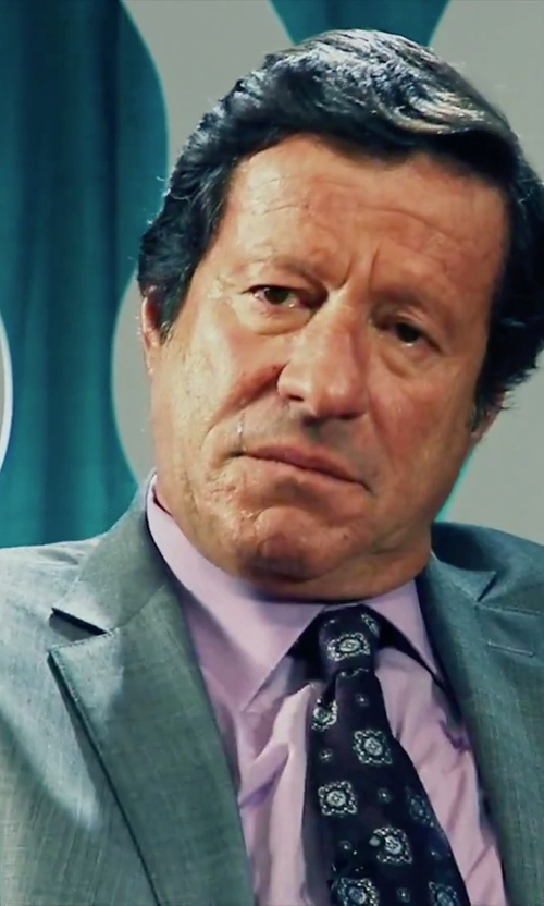 Joaquim de Almeida with Ralph Lauren Anthony Sharkskin Suit in Our Brand Is Crisis